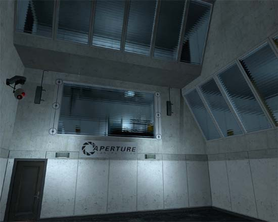 Early screenshot of a custom portal map.