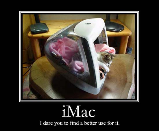 iMac / I dare you to find a better use for it.