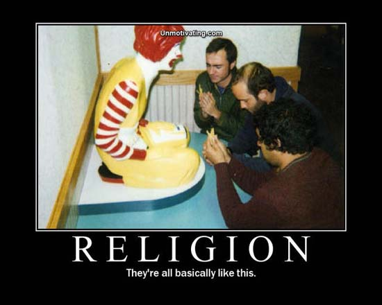 Religion / They're all basically like this.