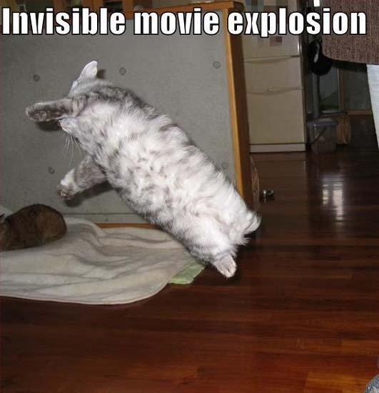 Invisible movie explosion