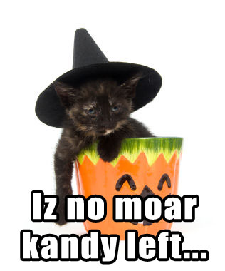 Iz no moar kandy left...