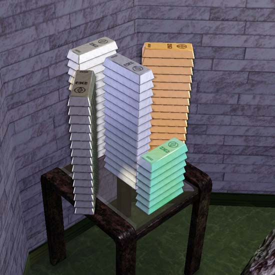 Stacks of metals in the Sims 3