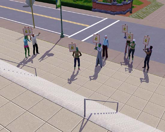 Protesting sims