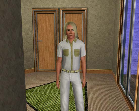 Alex Zenge, the Sims 3 Fabio look-alike.