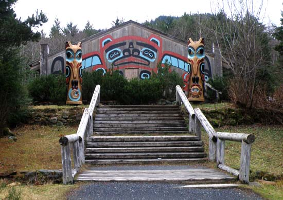 Tribal Tlingit meeting hall.