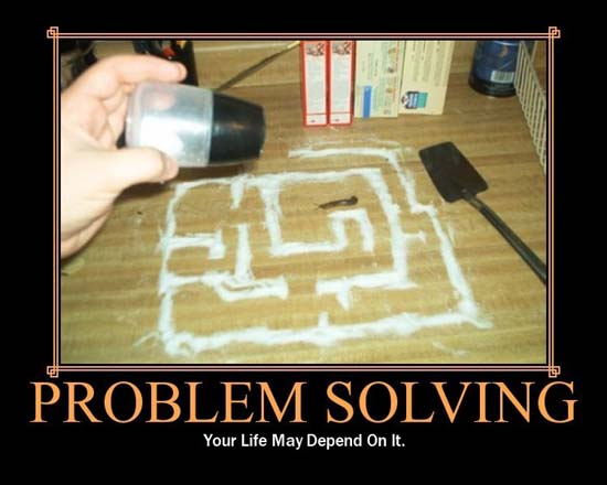 Problem Solving / Your life may depend upon it.