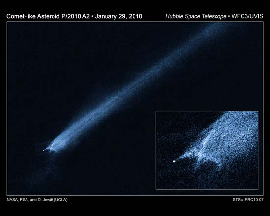 Comet-like Asteroid P/2010 A2