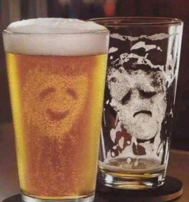 Comedy and Tragedy beer glasses