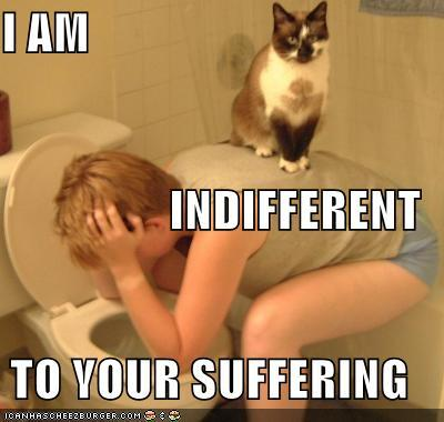I am indifferent to your suffering