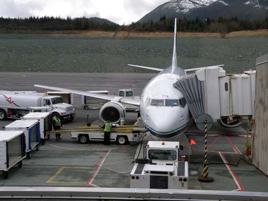 Alaska Airlines jet 778 in Ketchikan