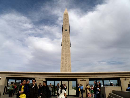 The Luxor's obelisk