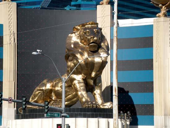 MGM lion statue