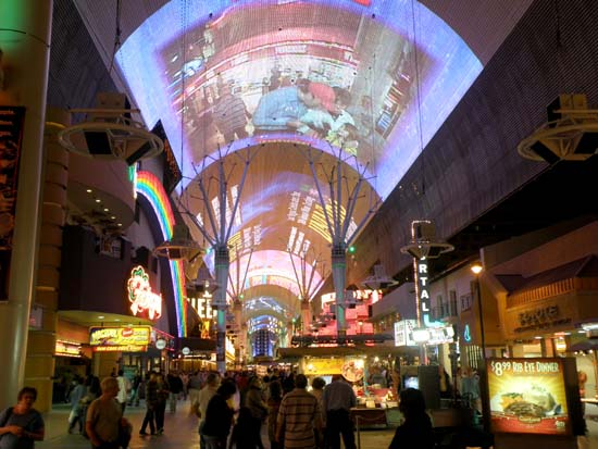 Screen at the Fremont Street Experience