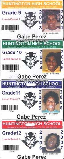 Gabe Perez's school IDs