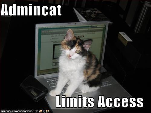 Admincat limits access