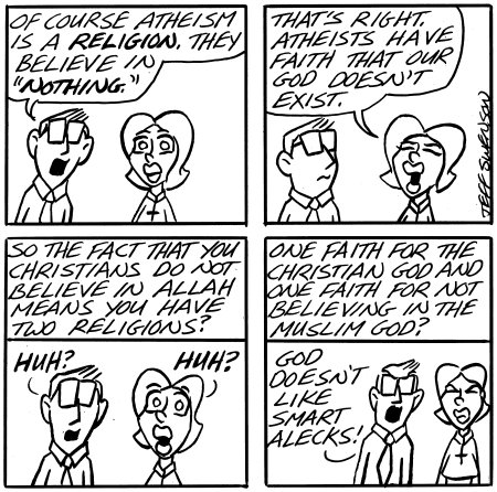 God doesn't like smart alecks