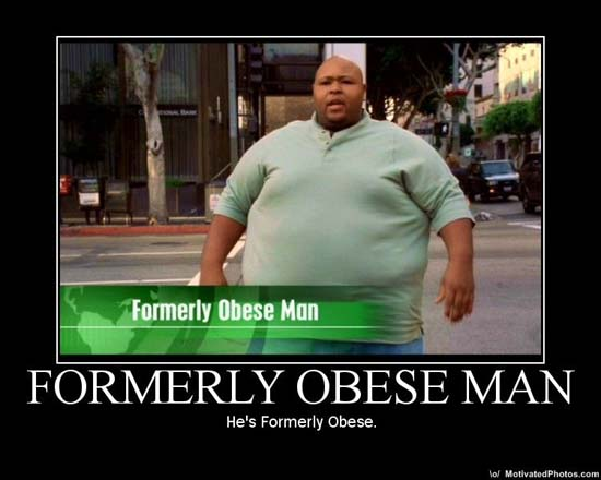 Formerly Obese Man / He's formerly obese.