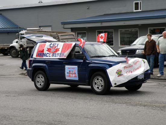 Prince Rupert parade vehicle