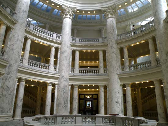 View inside the Idaho Capitol Building