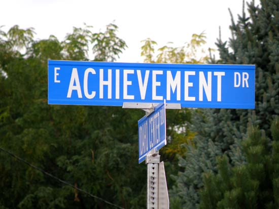 Achievement Drive sign