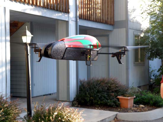 AR.Drone seen at eye-level