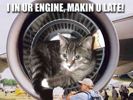 I in ur engine, makin u late!