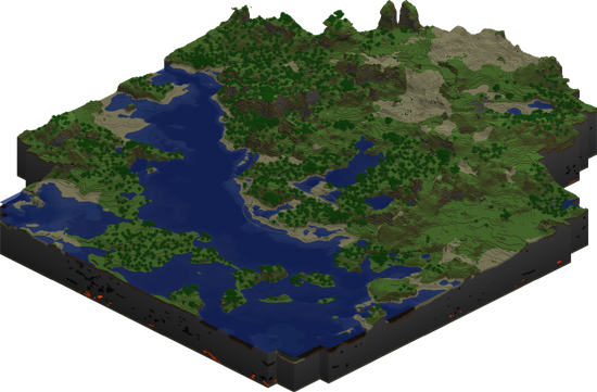 Map of a newly generated Minecraft World