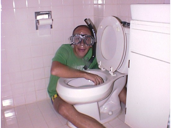 Toilet diving