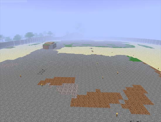 Minecraft mountain flattened