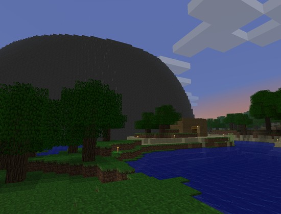 Minecraft dome outside