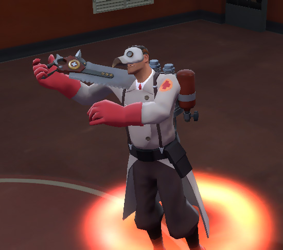 TF2 Medic wearing a Blighted Beak