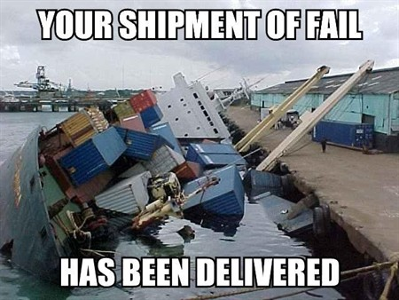 Your shipment of fail has been delivered