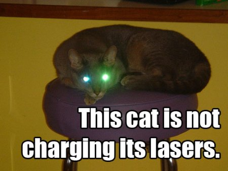 This cat is not charging its lasers.