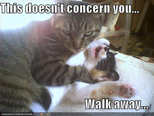 This doesn't concern you... Walk away...
