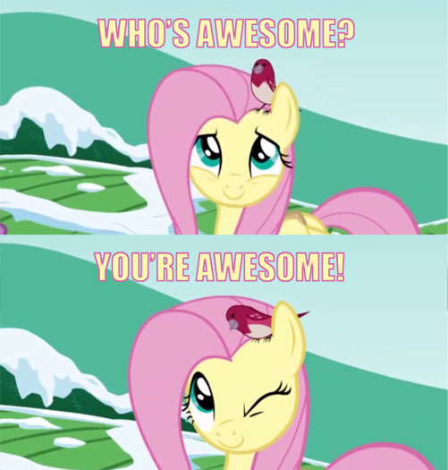 Who's awesome? / You're awesome!